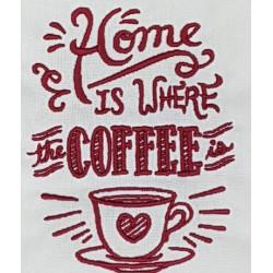 Torchon brodé Coffee