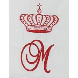 Torchon brodé Royal