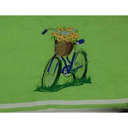 Fouta Vélo fleuri