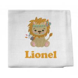 Lange brodé Lion