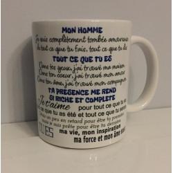 """Tasse """"mon homme"""""""
