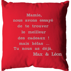 Coussin mamie... tu nous as...