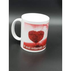 """Tasse """"Interdit piétiner..."""
