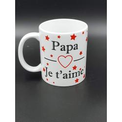 """Tasse """"papa je t'aime"""""""