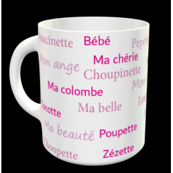 "Tasse ""surnoms d'amoureuse..."