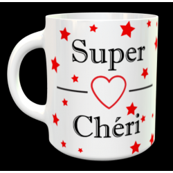 "Tasse ""Super chéri rouge..."