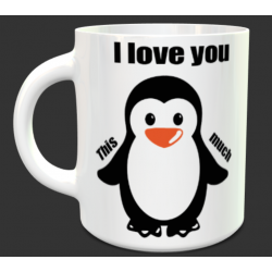 "Tasse Pingouin ""I love you..."