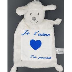 peluche, agneau Je t'aime