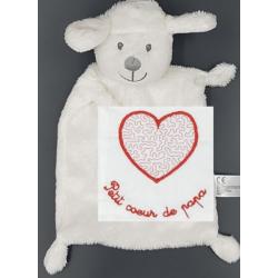 Peluche, agneau Coeur