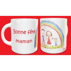 """Tasse """"Bonne fête maman""""..."""