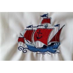 Torchon brodé Pirates