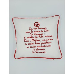 Coussin promesse scoute