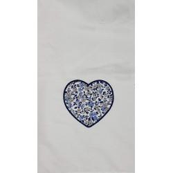 Lange brodé Coeur en tissu...