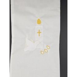 Echarpe de baptême brodée