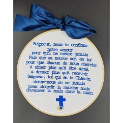 Cadre Prière des époux bleu